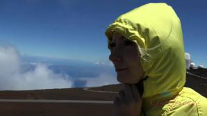 Chloe has a blast at Haleakala and in your bed.